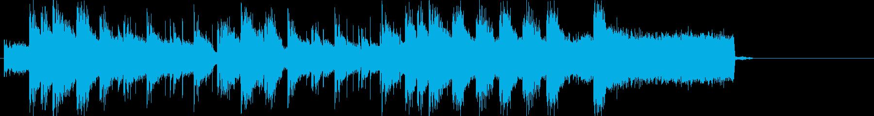 ドタバタだがキラキラ楽しくなるジングルcの再生済みの波形