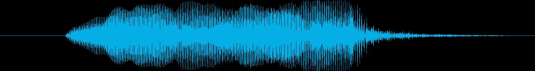 鳴き声 男性の恐ろしい悲鳴02の再生済みの波形