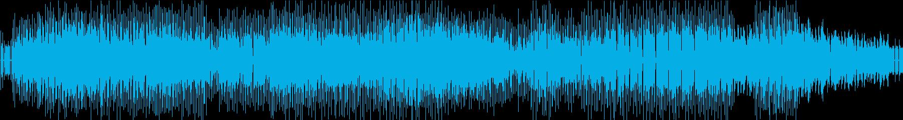 ダークな雰囲気 80年代ファンク風の再生済みの波形