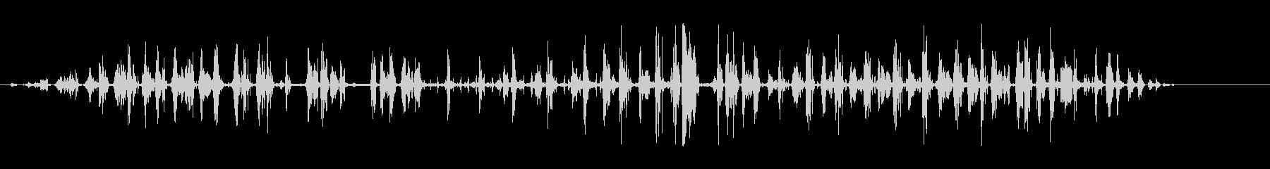 うなるハリネズミの未再生の波形
