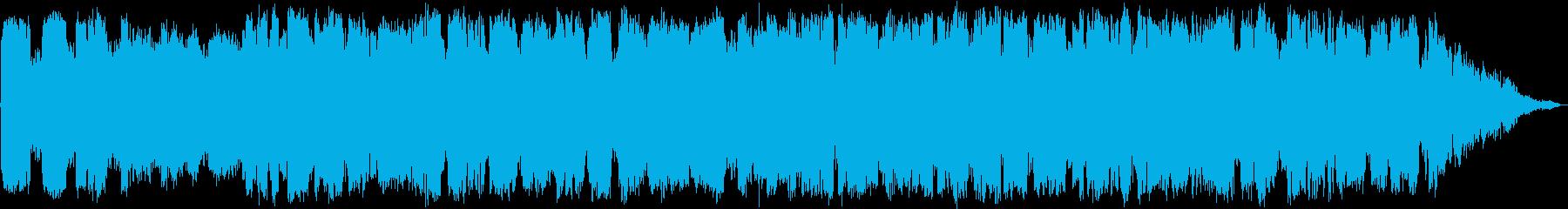 低音の竹笛の眠りと瞑想のヒーリング音楽の再生済みの波形