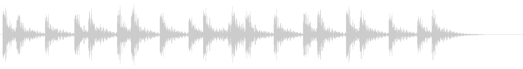 和太鼓アフリカ版Dunの重低音フレーズ音の未再生の波形