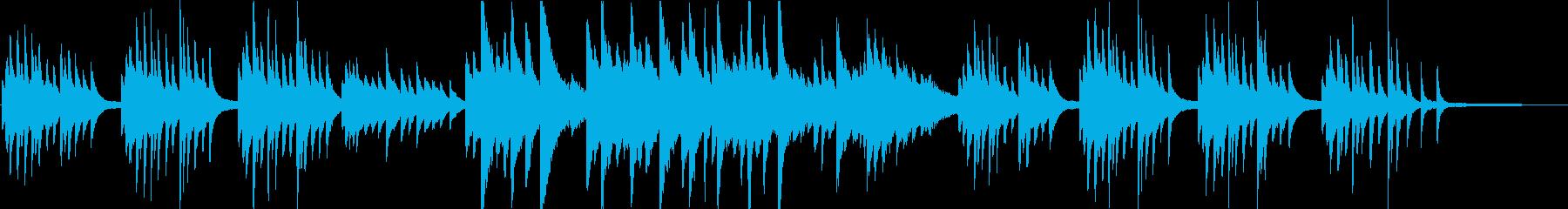 切なく優しいが迷い葛藤のピアノソロハーフの再生済みの波形