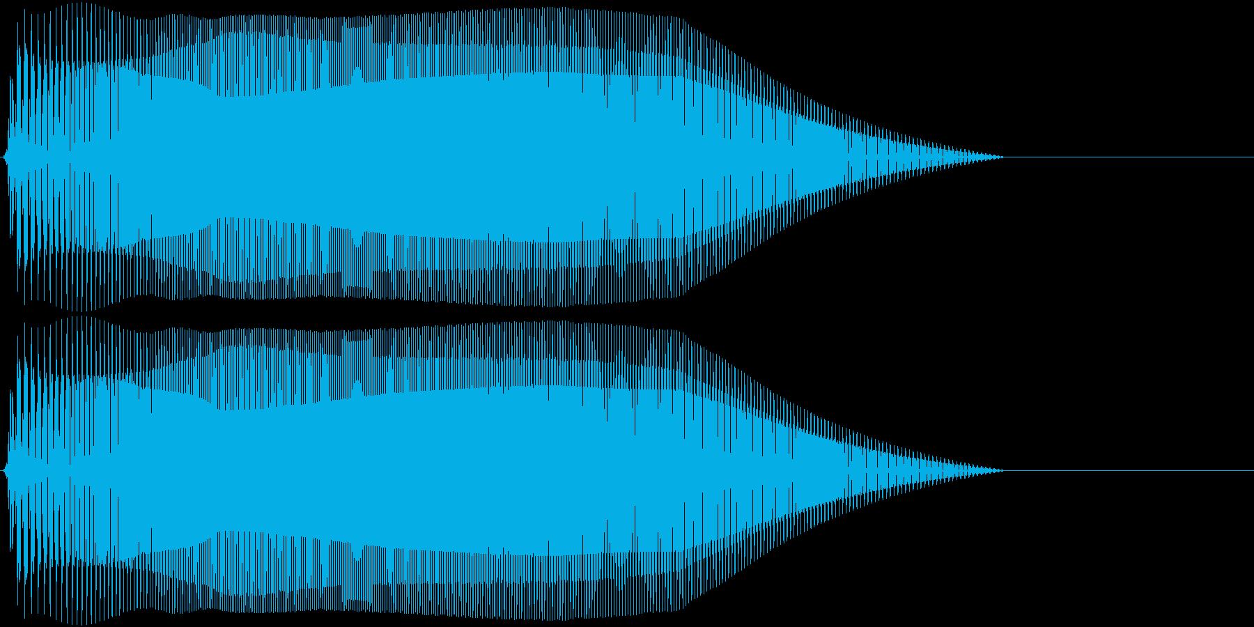 Game 横スクロール系ゲーム 効果音1の再生済みの波形