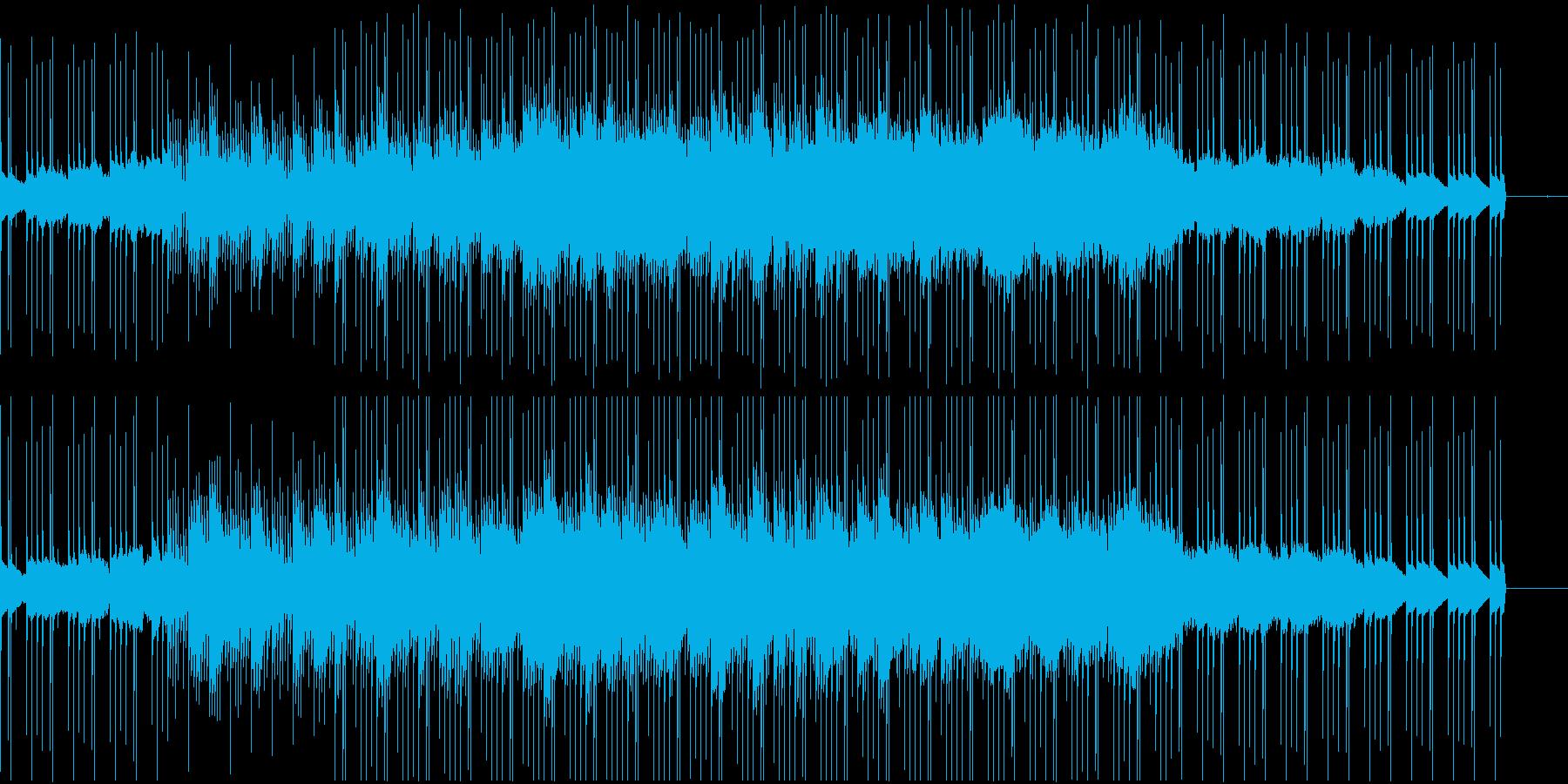 浮遊感のあるシンセとディープなリズムの再生済みの波形