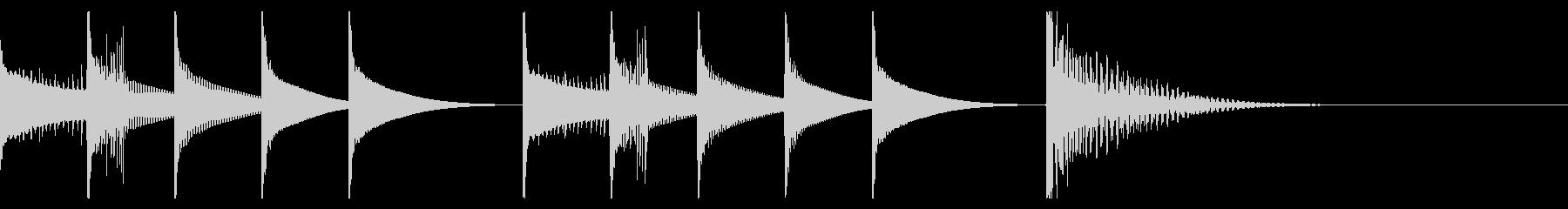 ピタゴラスイッチ風マリンバのジングルの未再生の波形