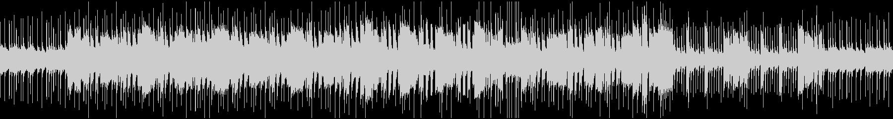 激しいロックのオーソドックスなBGMの未再生の波形
