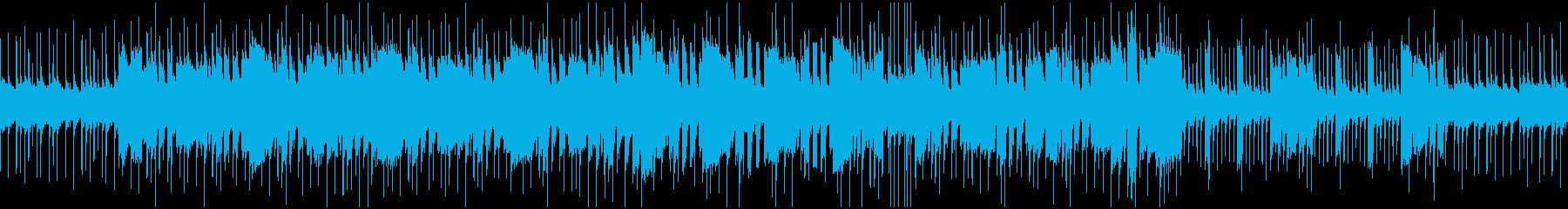 激しいロックのオーソドックスなBGMの再生済みの波形