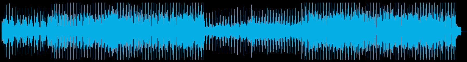 レトロな80年代風テクノサウンド8ビートの再生済みの波形
