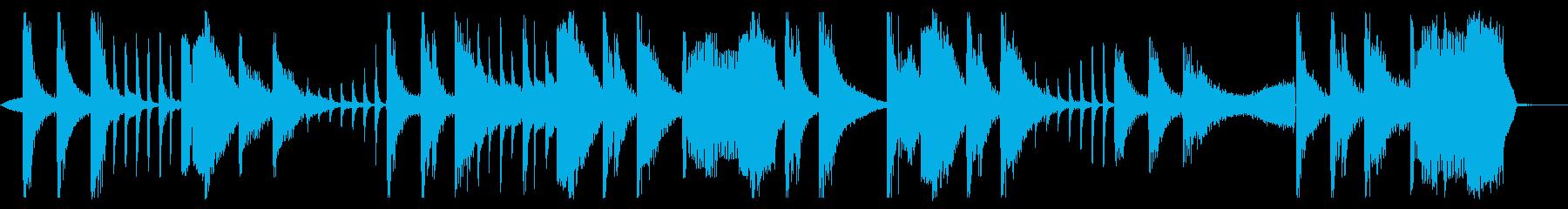 ホーンとシンセのエレクトロポップの再生済みの波形