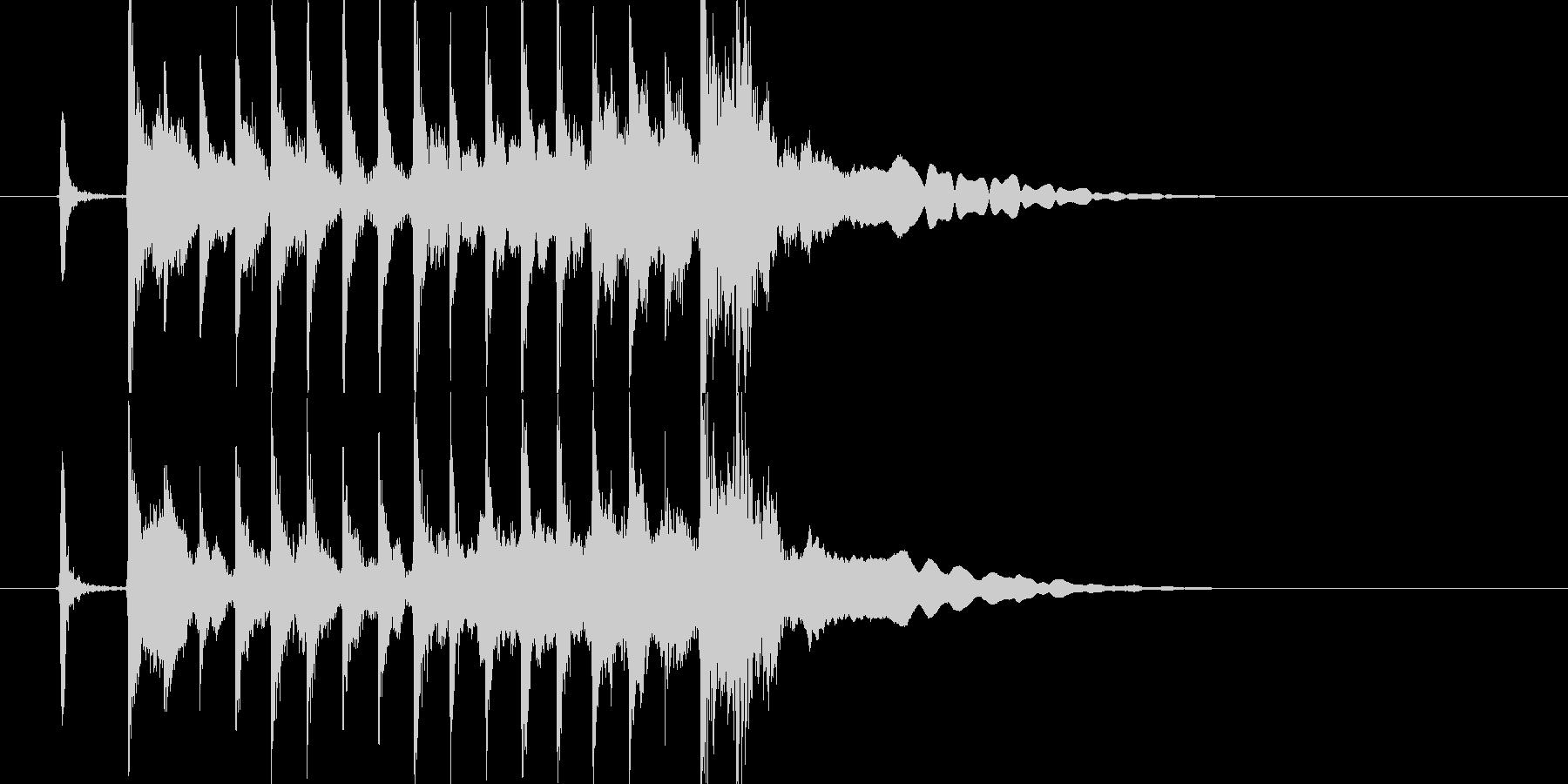 三味線主体の和風ジングル2 掛け声有の未再生の波形