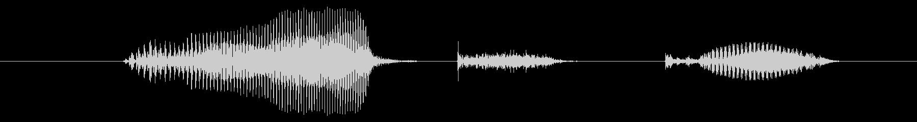 大きくの未再生の波形