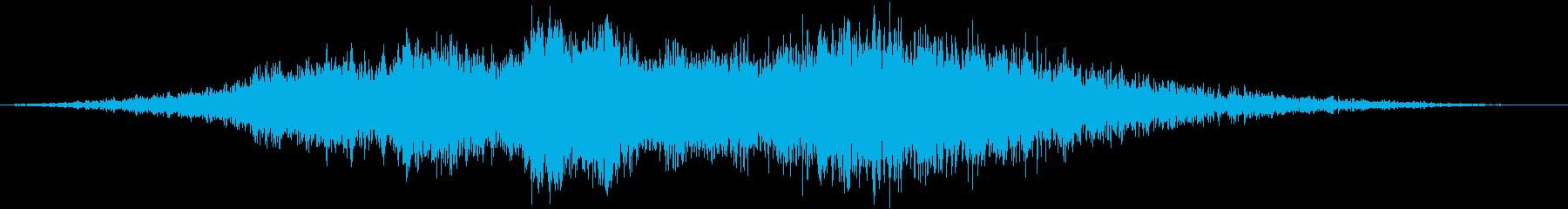 大型旅客機の離陸(滑走路の終点)の再生済みの波形