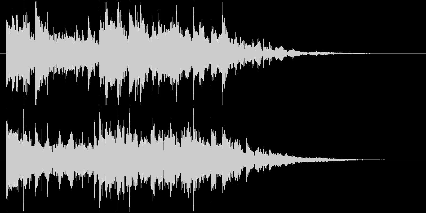 デジタル系未来的映像オープニングロゴの未再生の波形