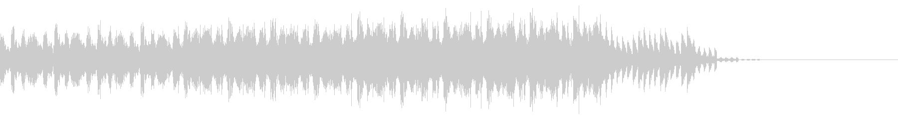 重苦しいハードテクノのエンディング30秒の未再生の波形
