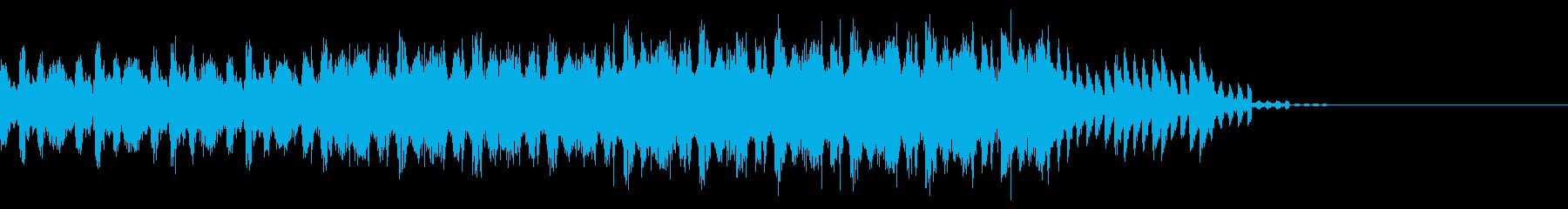 重苦しいハードテクノのエンディング30秒の再生済みの波形