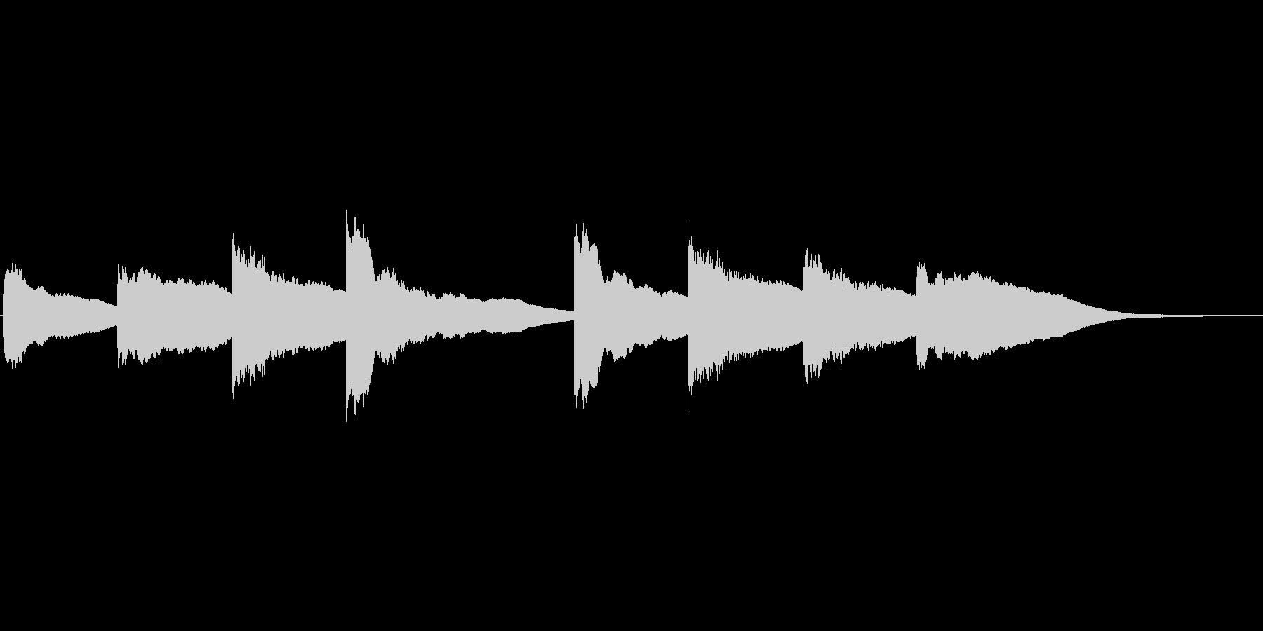 シンプルな学校のチャイムです。軽めの音…の未再生の波形