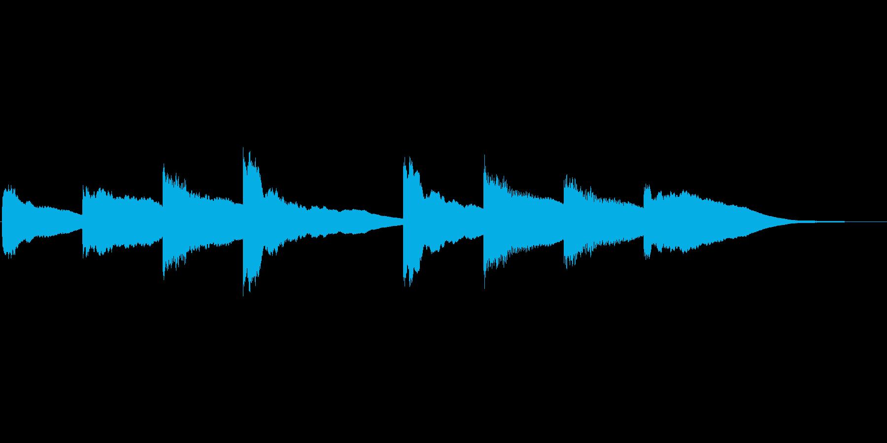 シンプルな学校のチャイムです。軽めの音…の再生済みの波形