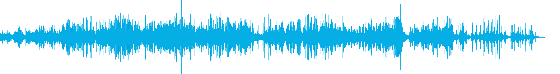 幻想・感動系ピアノソロ曲の再生済みの波形