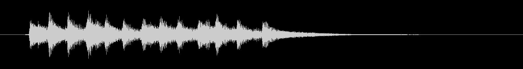 ピアノのメロディーの未再生の波形