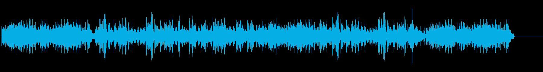 明るく爽やかなピアノによるBGMの再生済みの波形