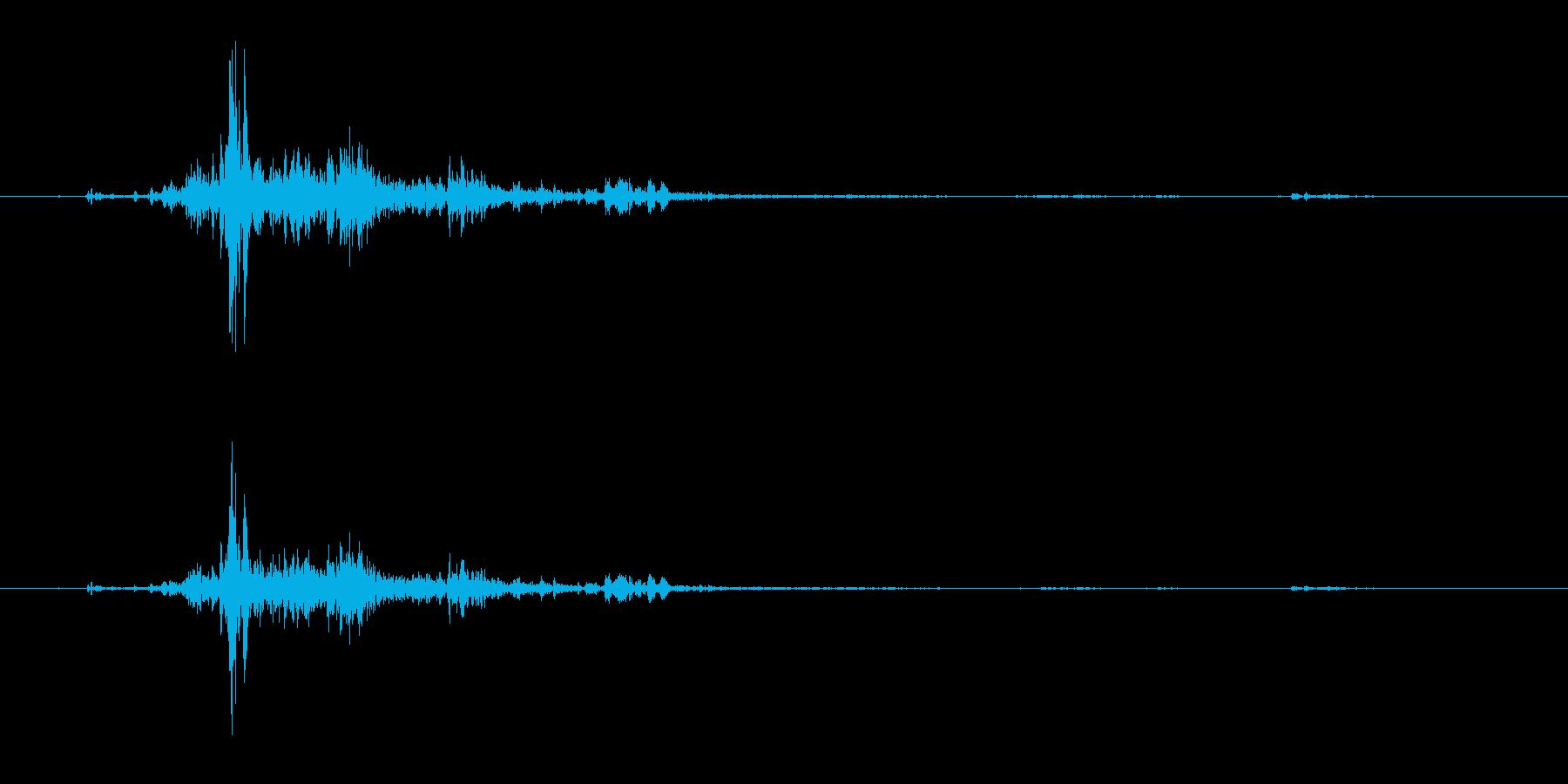バリバリドーン(落雷の音(雷のみ抽出))の再生済みの波形