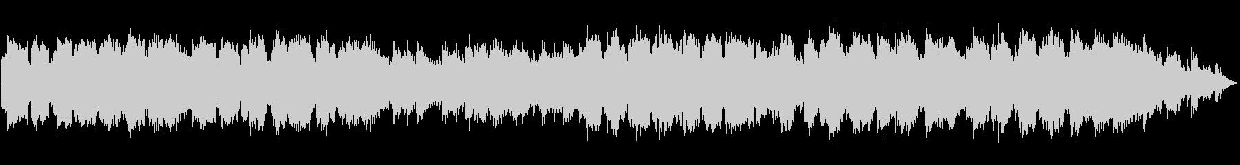低い笛の音のヒーリング音楽の未再生の波形