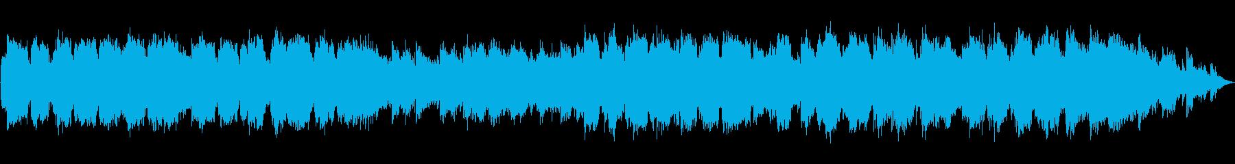 低い笛の音のヒーリング音楽の再生済みの波形