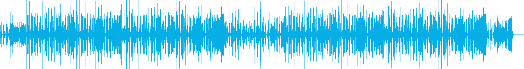 ほのぼのかわいい、のんびりした緩いBGMの再生済みの波形