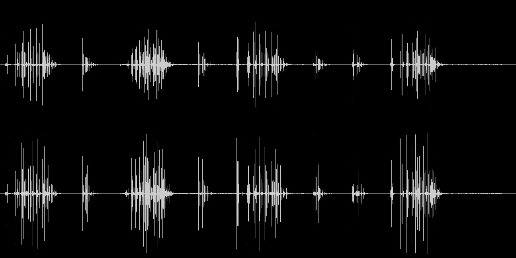 ノイズ 単純なクラックルシーケンス02の未再生の波形