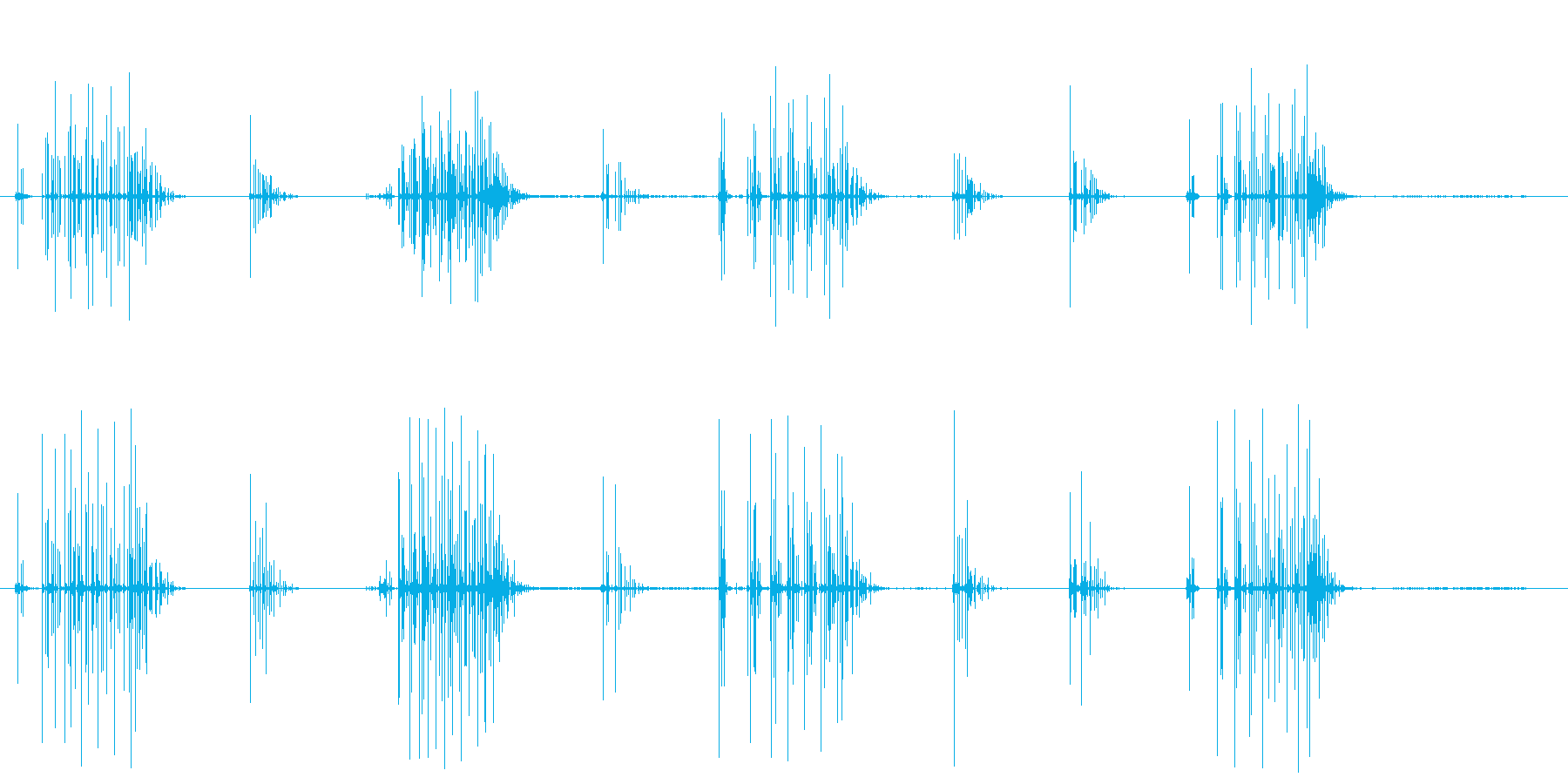 ノイズ 単純なクラックルシーケンス02の再生済みの波形