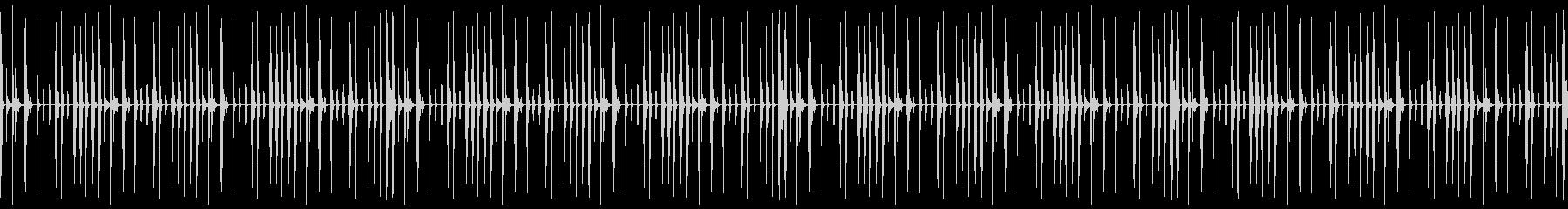 ゲーム・メニュー画面・ドラムソロ・ループの未再生の波形