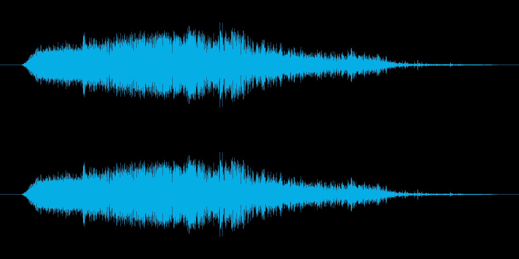 斬撃4【刀で切りつける斬撃】の再生済みの波形