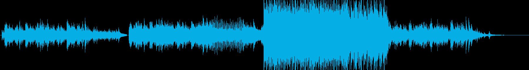 壮大に広がっていくイメージのロック曲の再生済みの波形