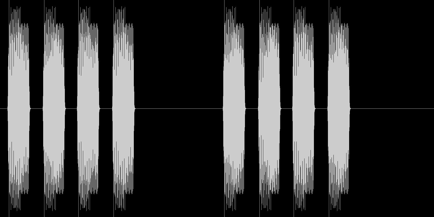 速報(ピピピピッ、ピピピピッ)の未再生の波形