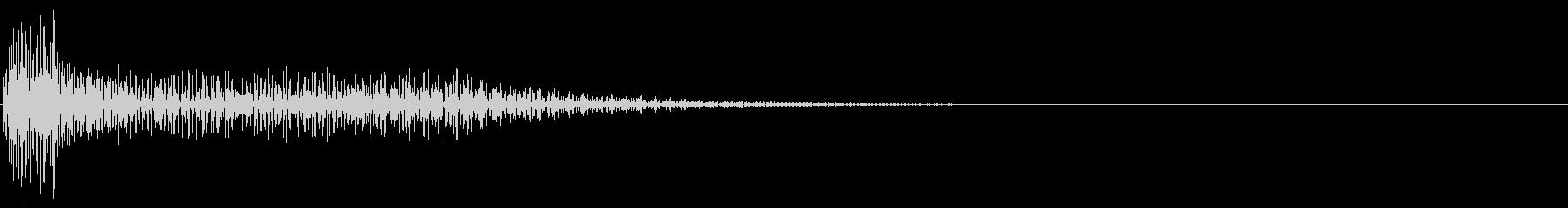 アプリ・タッチ・キャンセル音11の未再生の波形