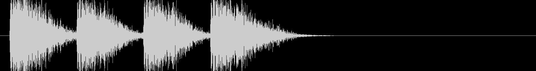 オーケストラヒット登場シーン 80年代の未再生の波形