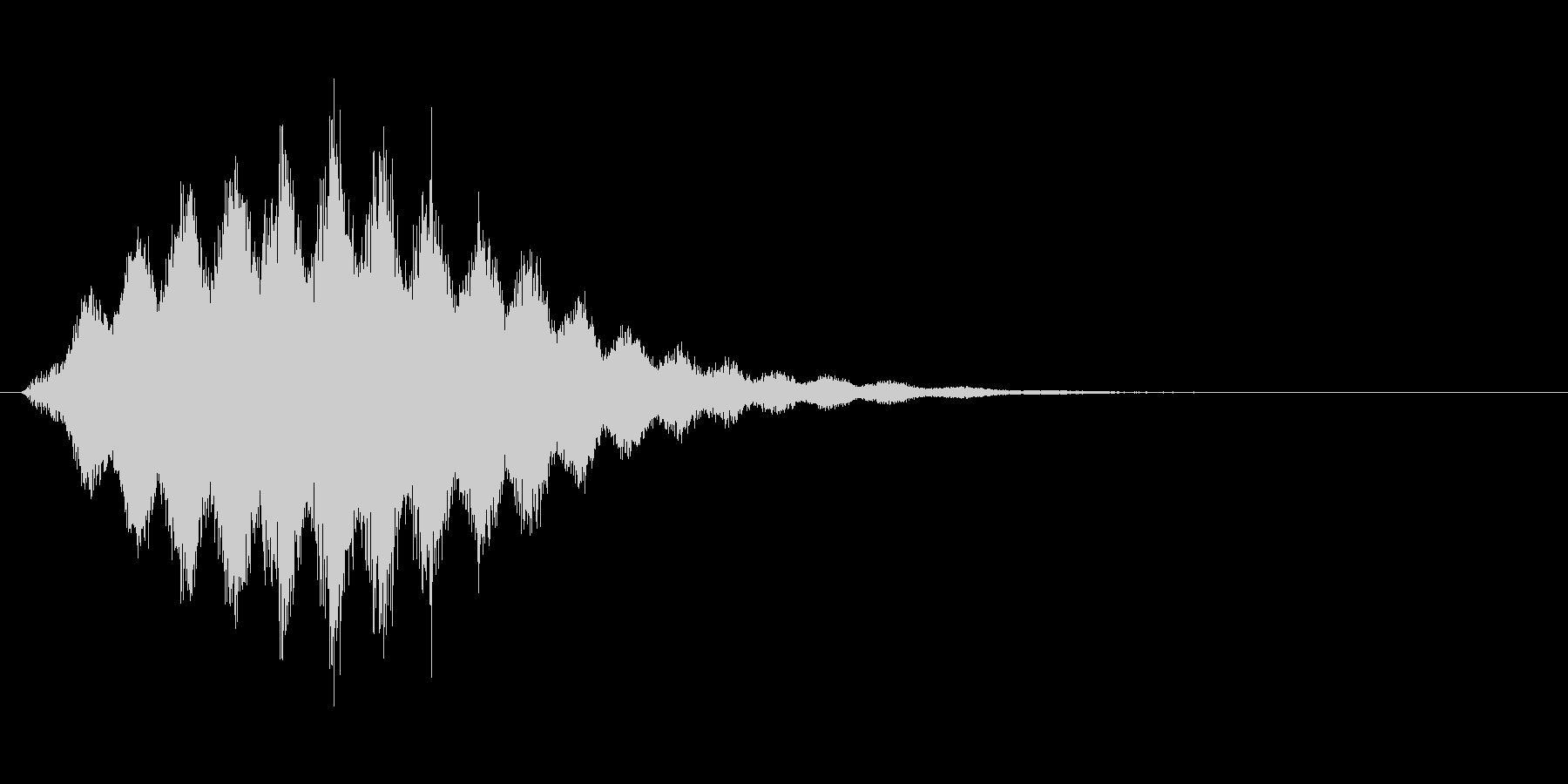 シュシュシュ...(風魔法、かまいたち)の未再生の波形