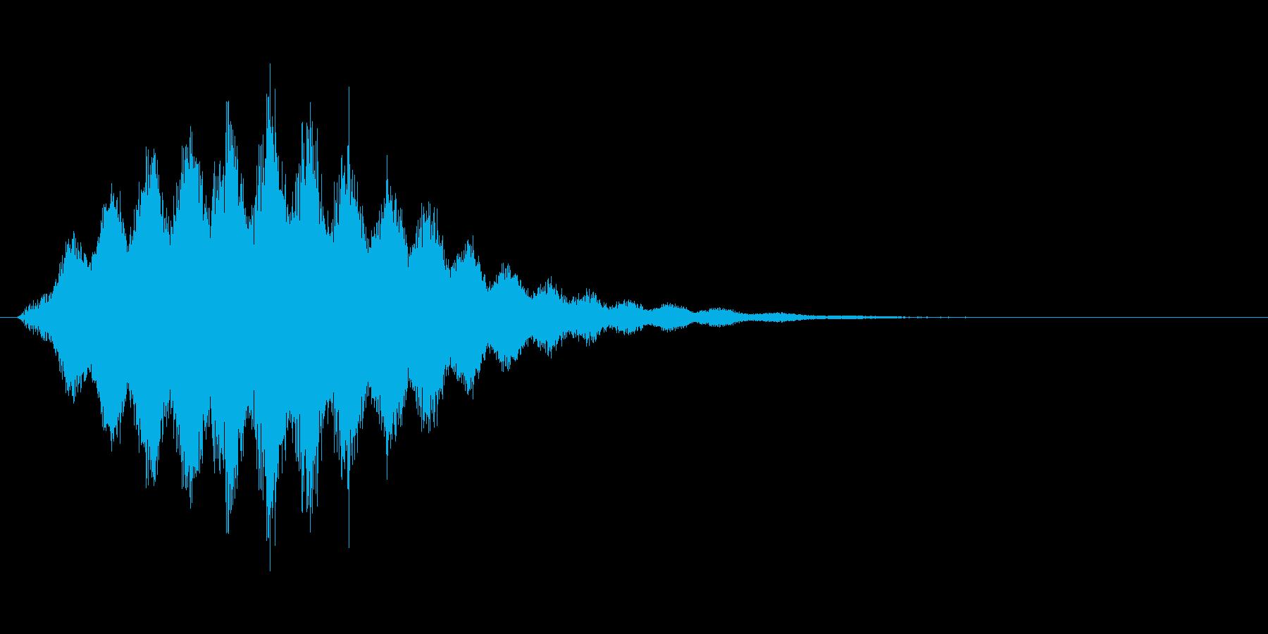 シュシュシュ...(風魔法、かまいたち)の再生済みの波形