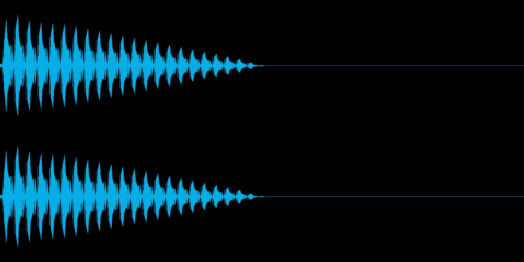 ブッ(キャンセル/選択かわいい/ピコピコの再生済みの波形