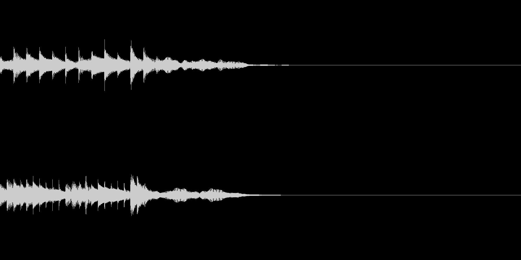 サウンドロゴ・短時間CMの未再生の波形