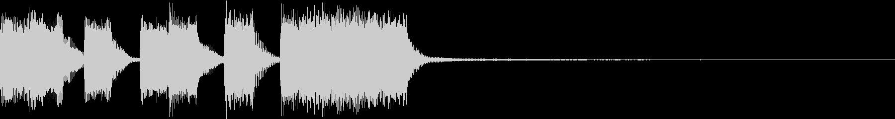 ファンファーレ ベル レベルアップ 9の未再生の波形