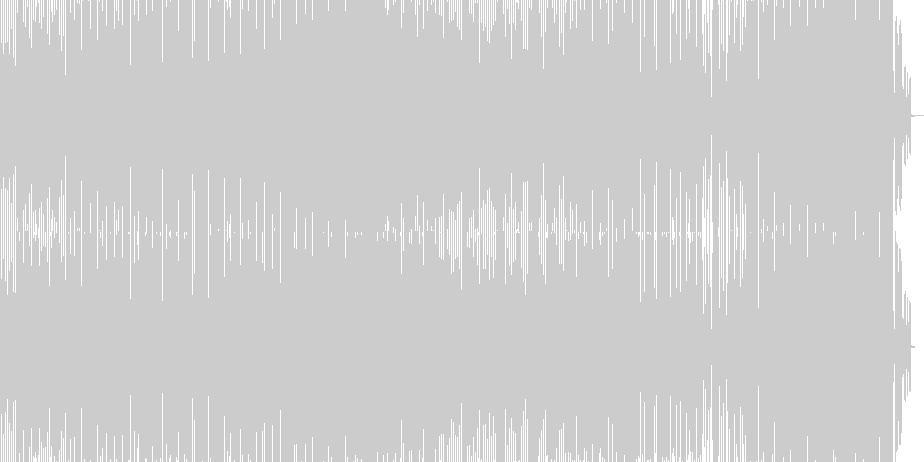 ロボットがダンスして歌うエレクトロポップの未再生の波形