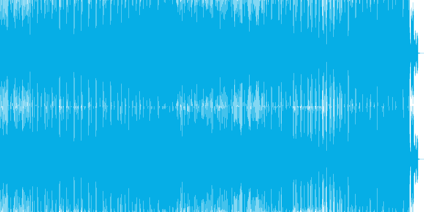 ロボットがダンスして歌うエレクトロポップの再生済みの波形