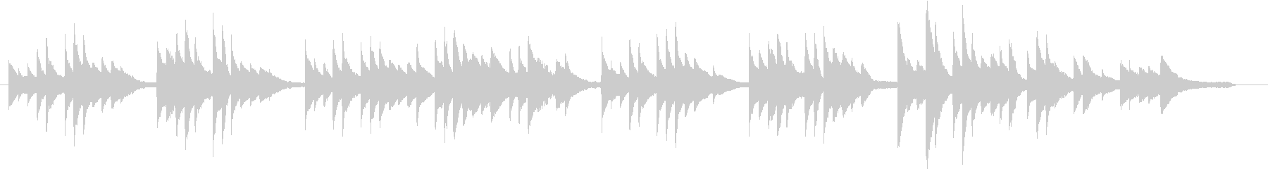 結婚式BGM_式の前日01の未再生の波形