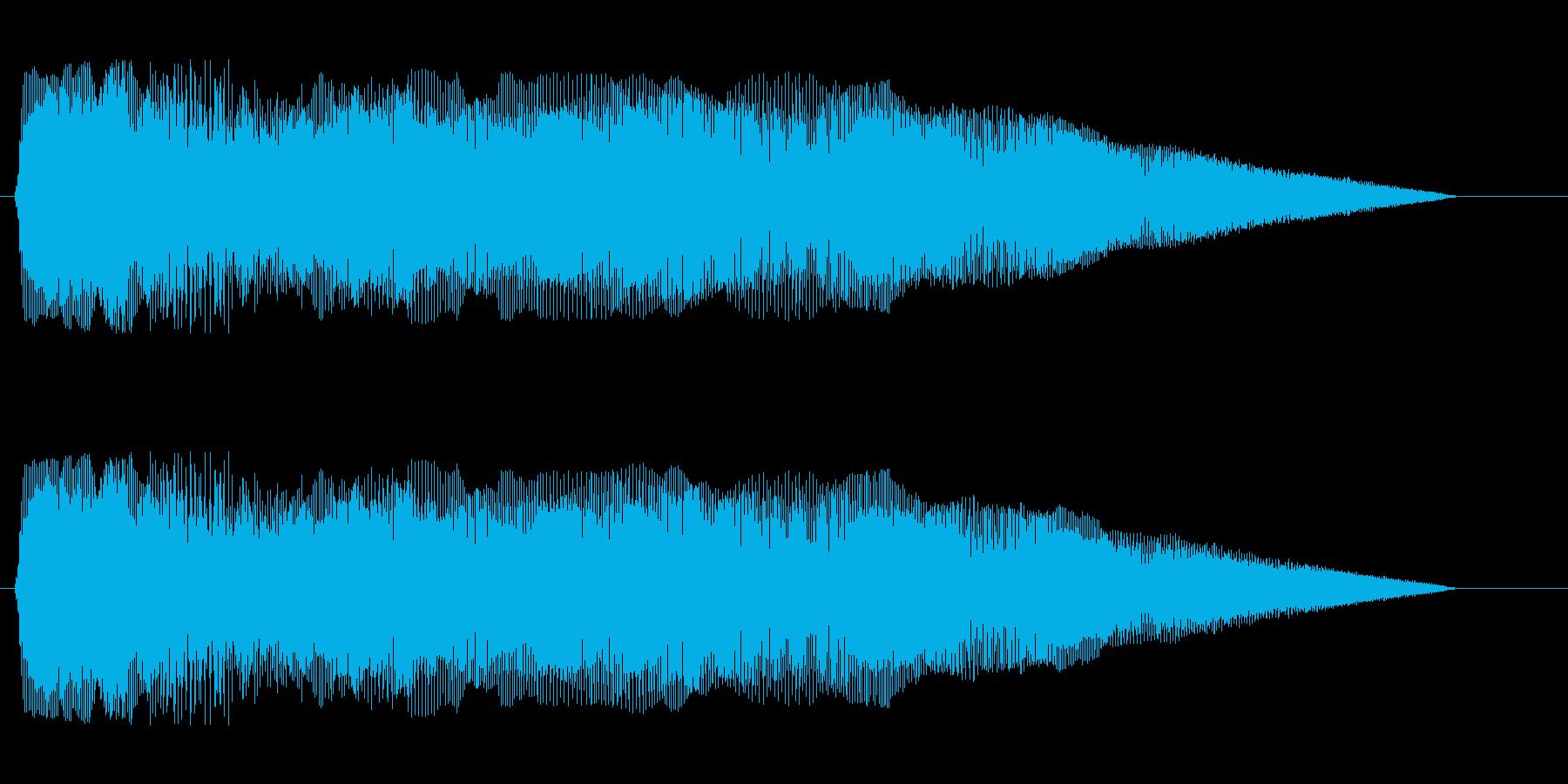 ピヨヨヨョ〜ン(コミカルな失敗音)の再生済みの波形