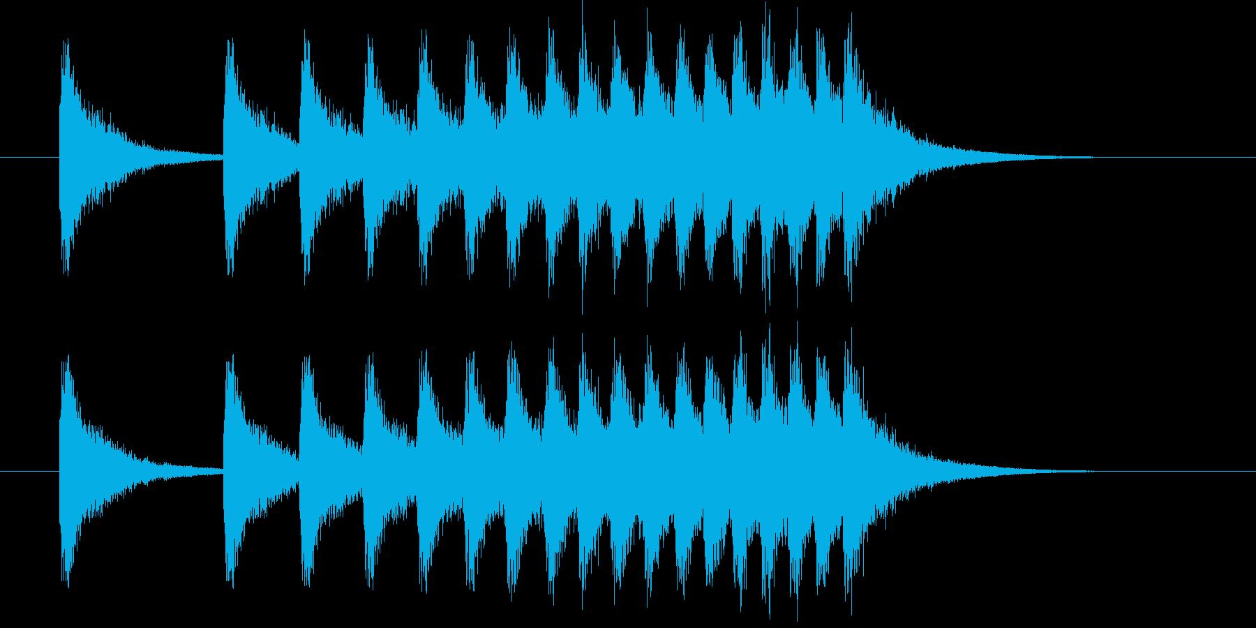 [シャン]連続音/中国/中華/お祭りの再生済みの波形