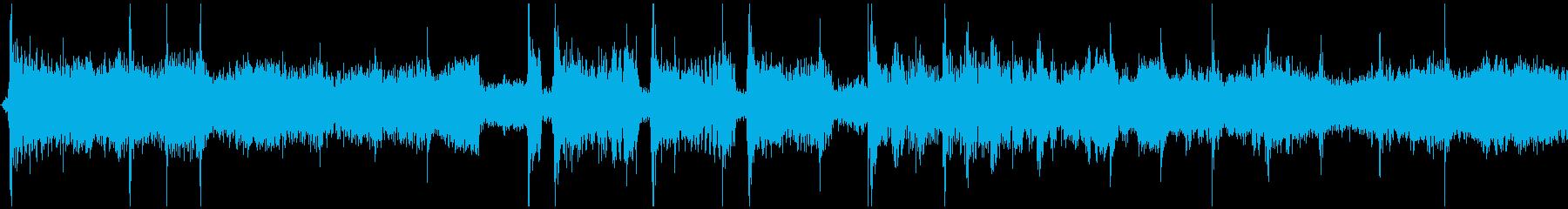 音楽の早送り、テープ早送りの再生済みの波形