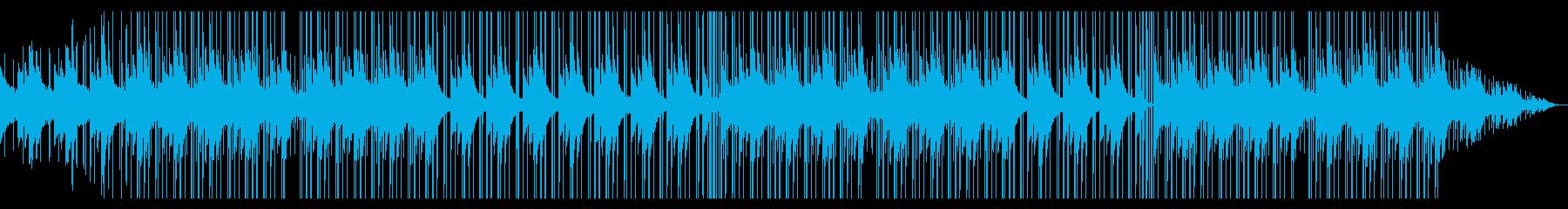 暗いネガティブな感情のローファイの再生済みの波形