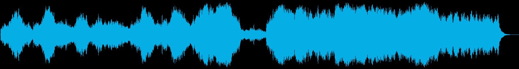 ワーグナー風の壮大なオーケストラの再生済みの波形